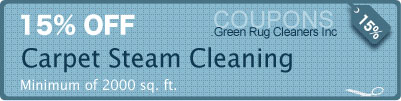 15% off carpet steam cleaning services